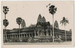 Real Photo Angkor Vat 1938 Used King Monivong - Cambodge