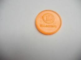 Jeton De Caddie En Plastique  , Magasin Centre Leclerc - Trolley Token/Shopping Trolley Chip