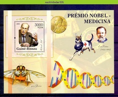 Nep093 NOBELPRIJS RICHARD AXEL HOND INSECT DOG LOUIS PASTEUR NOBEL PRIZE MEDICINS MICHEL 3192 GUINÉ-BISSAU 2005 PF/MNH # - Nobelprijs
