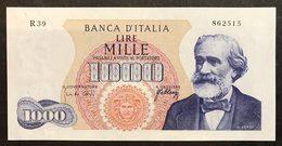 1000 LIRE VERDI I° TIPO 20 05 1966 Q.FDS LOTTO 1789 - [ 2] 1946-… : Républic