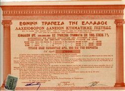 NATIONAL BANK Of GREECE Lottery Loan Of 1926; Title Of One Bond - Other