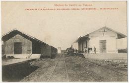 Station De Castro Parana Railway Sao Paolo Rio Grande Train - Brazil