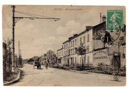 CPA Reims 51 Marne Boulevard Jamin Enseigne Vins Spiritueux Bourgeois Legros Petite Animation éditeur LS - Reims