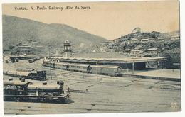 Santos S. Paulo Railway Alto Da Serra  Train Edit Manzieri - São Paulo