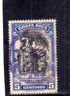 COSTA RICA 1950 AIR MAIL POSTA AEREA AEREO Feria Nacional Agricola Ganadera Industrial Cartago BANANAS CENT.5 USATO USED - Costa Rica