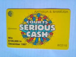 186CATA Courts Serious Cash $10 - Antigua And Barbuda