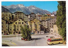 Autriche Kurort Solbad In Tirol N°12041 VOIR ZOOM CAR BUS Mercedes Ford Anglia VW Combi VOIR DOS Timbre Escrime - Non Classés
