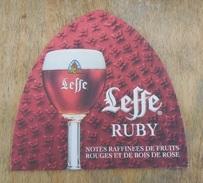 Sous-bock  Bière -  Coasters Beer / Leffe Ruby & Leffe Blonde   - Neuf New - Never Used - Jamais Utilisé - Sous-bocks