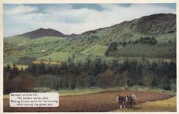 Postcard Beneath An Irish Hill Ploughing With Horses PU Belfast 1961 [ Farming Interest ] My Ref  B12043 - Farmers
