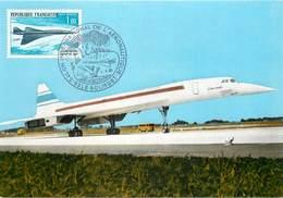 """SALON INTERNATIONAL DE L'AÉRONAUTIQUE DU BOURGET 1993.Avion Supersonique """"Concorde"""". - Demonstraties"""