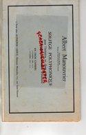 75- PARIS- LIVRET PARTITION SOLFEGE POLYPHONIQUE-ALBERT MANOUVRIER- 95-SAINT GRATIEN-ALPHONSE LEDUC-175 RUE ST HONORE - Scores & Partitions