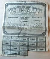 Action 1897 Companhia De Mossamedes - Titre Au Porteur De Une Action  - (804-11) - Actions & Titres