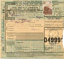 FRANCE BULLETIN D'EXPEDITION D'UN COLIS POSTAL AVEC OBLITERATION RIEUPEYROUX 1-10-43 AVEYRON - Cartas