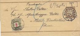 Schweiz: 1904: München Nach Winterthur, Nachgebühr Streifband - Ohne Zuordnung