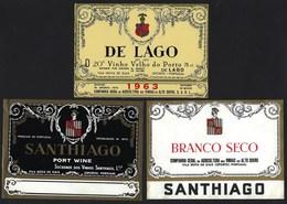 1963 Vinho Velho Do Porto DE LAGO 3 ROTULOS. Set Of 3 Vintage Label Of Port Wine V.N.GAIA - PORTUGAL - Labels