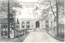 Bruxelles - CPA - Brussel - Exposition 1910 - Entrée Principale Vers Le Bois - Places, Squares