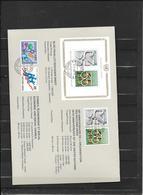 ONU Genève  Encart  1980  N° 88 à 95  Et Bloc N° 2 Oblitérés TB  Le 21/11/1980  Soldes Le Moins Cher Du Site   ! ! ! - Cartas
