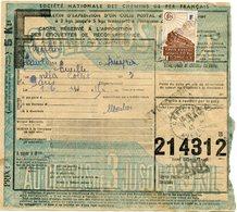 FRANCE BULLETIN D'EXPEDITION D'UN COLIS POSTAL AVEC OBLITERATION CANTOIN 1-6-43 AVEYRON - Cartas