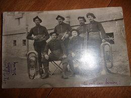 Groupe De Militaire Musicien A Modame 1910 - Régiments
