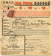 FRANCE BULLETIN D'EXPEDITION D'UN COLIS POSTAL AVEC OBLITERATION LA TERRISSE 11-12-43 AVEYRON - Cartas