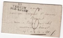 MP  53 VERDUN Sur MEUSE Du 25.03.1819   (indice 4 =  15 € ) - 1801-1848: Précurseurs XIX