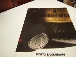 ANCIENNE PUBLICITE PORTO SANDEMAN 1980 - Alcohols