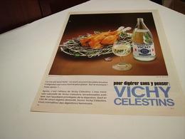 ANCIENNE PUBLICITE POUR DIGERER  VICHY CELESTIN ETAT 1981 - Posters