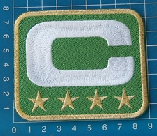 SUPERBOWL NFL TEAM LEADER JERSEY CAPTAINS GREEN PATCH GOLD 4 STAR - Apparel, Souvenirs & Other
