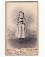 CDV Photo Deutschland 1899: Niedliches Kleines Mädchen Im Kleid - Fotograf: Ph. Does & Söhne, Bad Kreuznach - Photographs