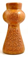 Dekoratív Mázas Kerámia Váza, Jelzés Nélkül, Hibátlan, M: 28,5 Cm - Ceramics & Pottery