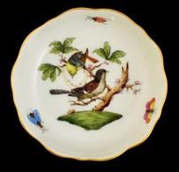 Herendi Rothschild Mintás Kis Talpas Kínáló, Kézzel Festett, Hibátlan, M:3 Cm, D:8 Cm - Ceramics & Pottery