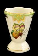 Herendi Viktória Mintás Porcelán Fogpiszkálótartó, Kézzel Festett, Jelzett, Hibátlan, M: 5 Cm - Ceramics & Pottery