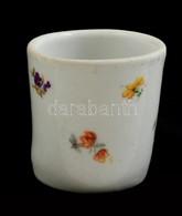 Zsolnay Virág Mintás Tégely, Matricás, Jelzett, Kopott, M:4,5 Cm - Ceramics & Pottery