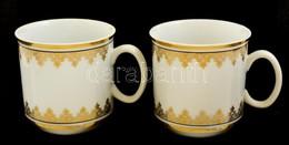 Josefina Csehszlovákia 2 Db Kávéscsésze, Matricás, Jelzett, Hibátlan, M: 6,5 Cm - Ceramics & Pottery