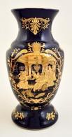 Kobaltkék Kínai Váza, Matricás, Jelzett, Kopásokkal, M: 26 Cm - Ceramics & Pottery