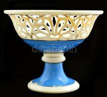 Áttört Szél? Gyümölcsös Kosár, Sérült, Jelzés Nélkül, M: 20 Cm, D:25 Cm - Ceramics & Pottery