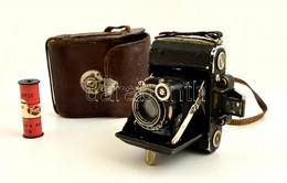 Cca 1934 Zeiss Ikon Super Ikonta 530 Fényképez?gép Carl Zeiss Tessar 1:3,5 F=7 Cm Objektívvel, Eredeti B?r Tokjában, Kis - Cameras