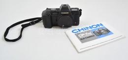 1986 Chinon CP-7m Multi-Program Filmes SLR Fényképez?gép, Objektív Nélkül, 4 Db Ceruzaelemmel, Eredeti Leírásával,m?ködi - Cameras