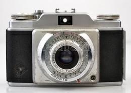 Agfa Silette Kisfilmes Fényképez?gép, Color-Apotar 1:2.8/45 Objektívvel, Eredeti B?r Tokjában, Hibás Zárszerkezettel / V - Cameras