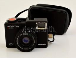 1982 Agfa Optima Sensor Electronic Fényképez?gép Agfa Solitar F2.8/40 Objektívvel, Eredeti Tokjában, Jó állapotban / Vin - Cameras