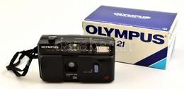Olympus TRIP AF 21 Automata Filmes Fényképez?gép, Eredeti Dobozában, Leírással, Jó állapotban - Cameras