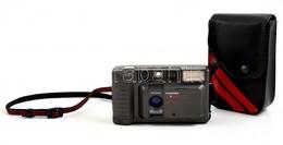 Hanimex 35 XAF Auto Focus Automata Filmes Fényképez?gép, Elem Nélkül (2 Db Ceruzelemmel M?ködik), Eredeti M?b?r Tokjában - Cameras