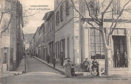 CPA 83 COLLOBRIERES RUE DE LA REPUBLIQUE - France