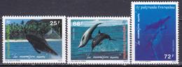 POLYNESIE 1993 YT N° 450/452 NEUF** COTE 5.50€ MAMMIFERES MARINS - French Polynesia