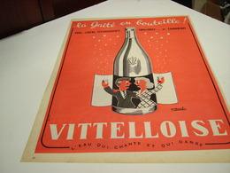 ANCIENNE PUBLICITE LA GAITE EN BOUTEILLE  LA VITTELLOISE  1954 - Posters