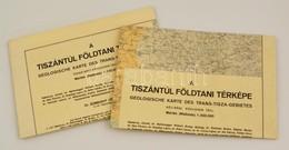 1941 A Tiszántúl Földtani Térképe, északi és Déli Rész (2 Db Térkép), Kiadja A Magyar Királyi Honvéd Térképészeti Intéze - Other Collections