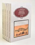 Fabó Beáta - Holló Szilvia Andrea: Budapest Térképeinek Katalógusa. 1-3. [1-5.] Köt. Bp., 2003, BFL. Papírkötésben, Bont - Other Collections