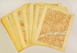 Cca 1920 42 Db USA Topográfiai Térkép (New Hampshire 10 Db, Michigan 4 Db, Maine 6 Db, Oregon 2 Db, New York 3 Db, Minne - Other Collections