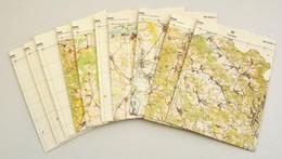 Észak-Magyarország Térképe, 1:100000, 10 Db Topográfiai Térképszelvény - Other Collections