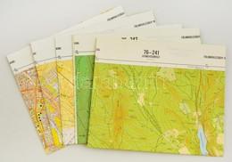 Gyöngyös Környéke, 1:10000, 5 Db Topográfiai Térkép - Other Collections